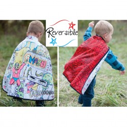 CAPA REVERSIBLE SUPERHERO-SPIDER
