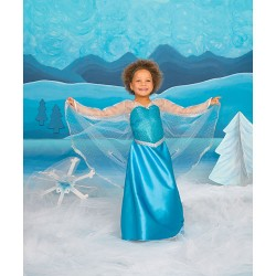 ICE CRYSTAL QUEEN DRESS CON CAPA 3-4
