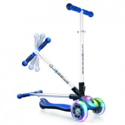 PATINETE PLEGABLE MY FREE FOLD UP AZUL CON LUCES